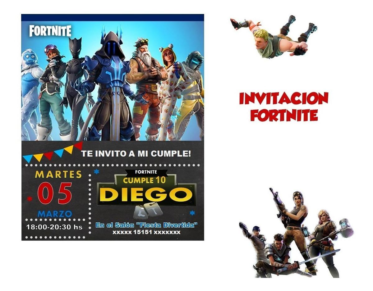 Invitación Fortnite Cumpleaños