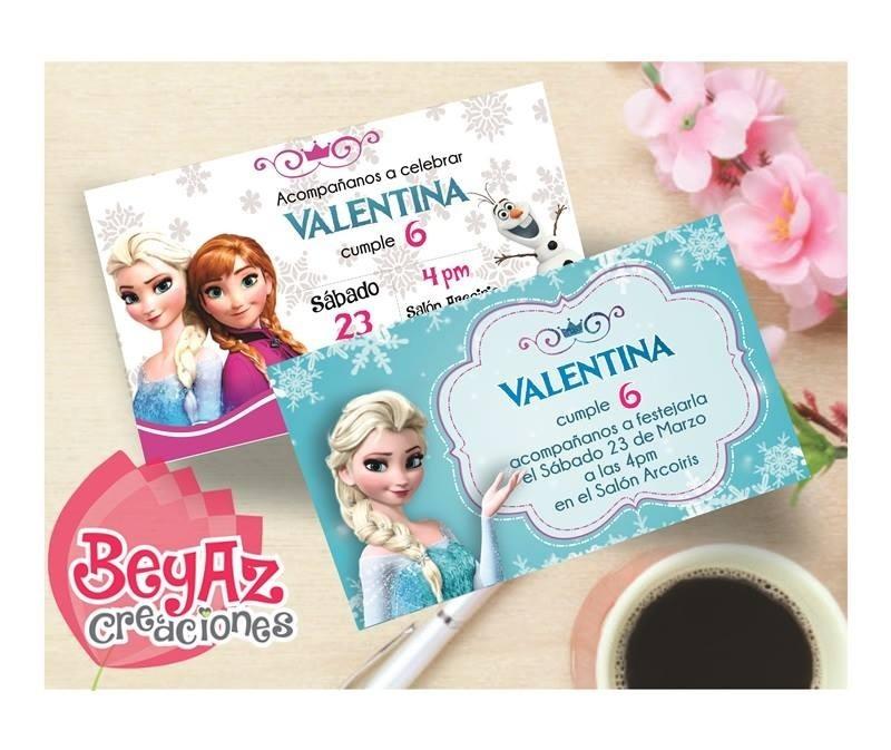 invitación frozen para imprimir 55 00 en mercado libre