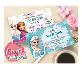 Invitación Frozen Para Imprimir