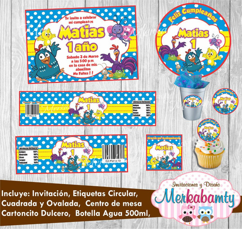 invitacion gallina pintadita kit de cumpleaños imprimelo tú!