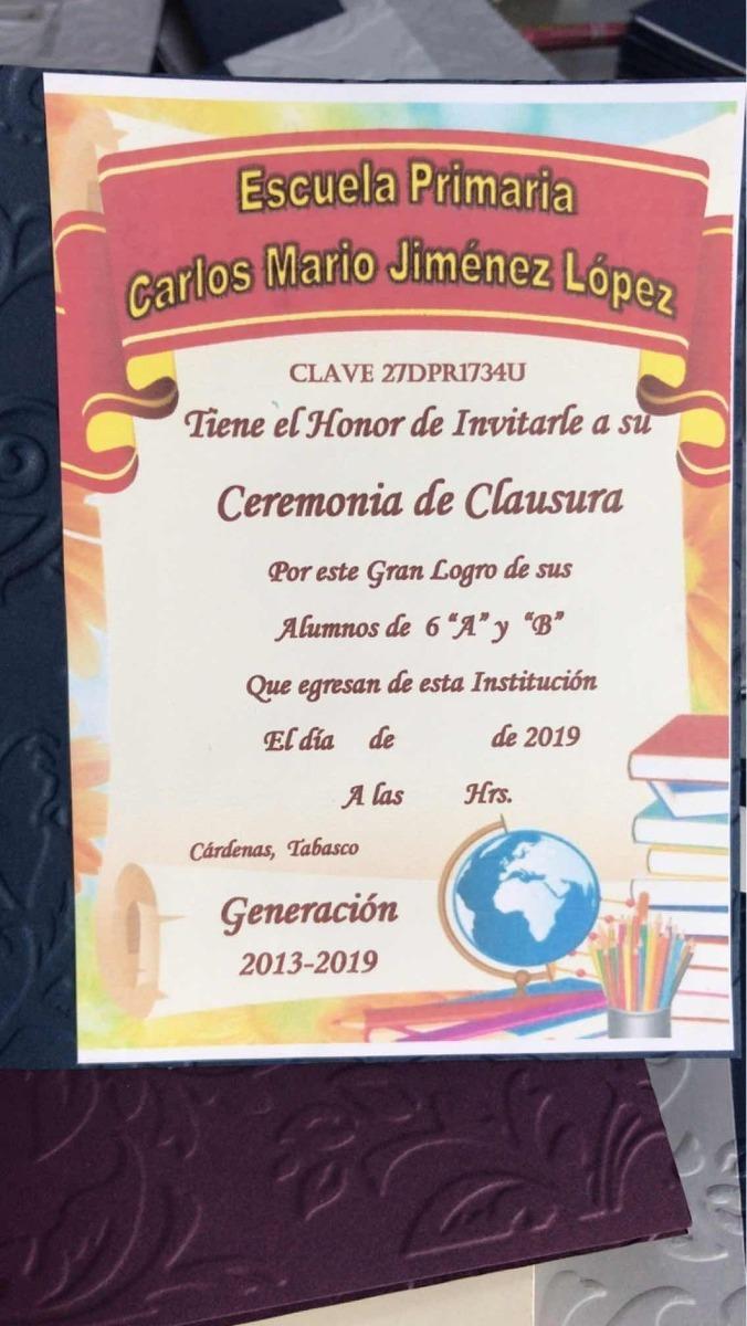 Invitacion Graduación