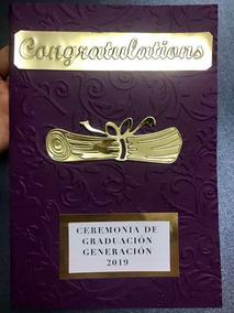 Invitación Graduación Color Vino Tamaño Media Carta