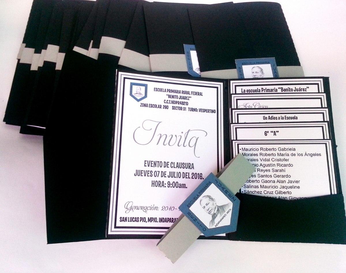 invitacion graduacion con tarjetas 10 piezas