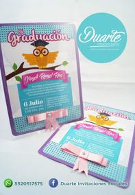 Invitacion Graduacion Prescolar Primaria