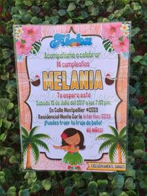 Tarjetas De Invitacion Hawaianas Invitaciones Otros Eventos