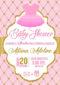 Invitación Impresa 3d Baby Shower