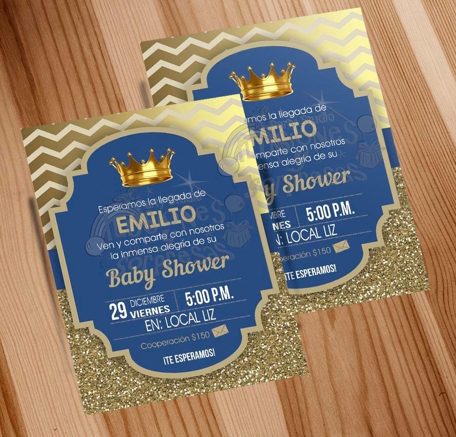 Invitación Imprimble Baby Shower Principe