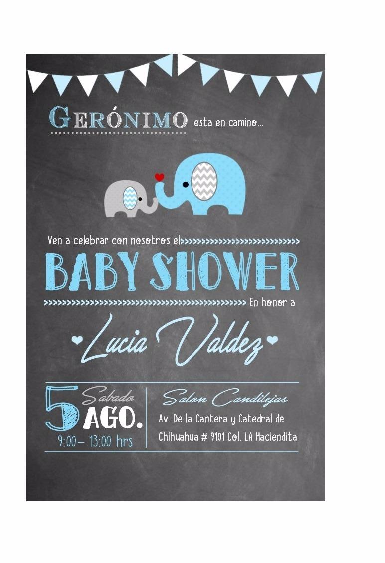 invitaci u00f3n imprimible baby shower ni u00f1o de elefante