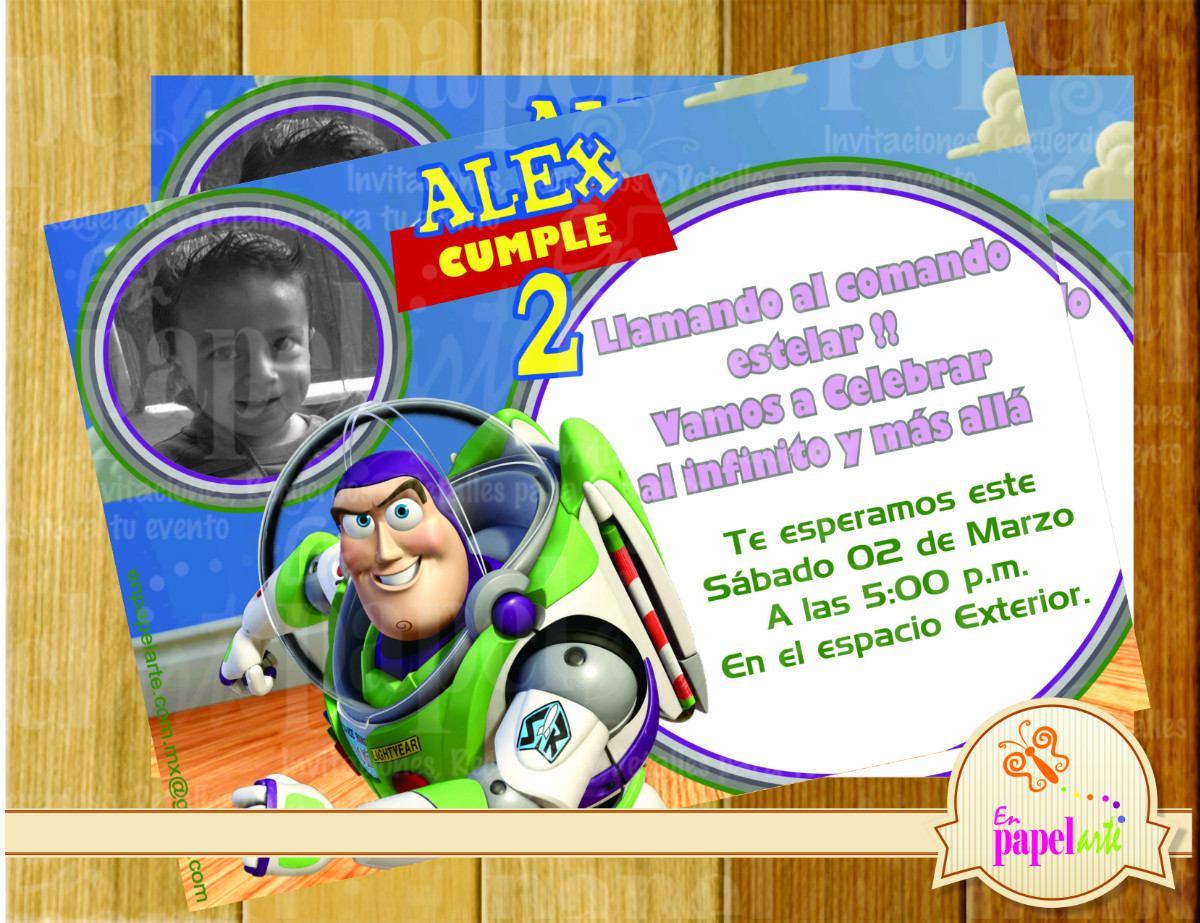 Invitacion Imprimible Buzz Lightyear