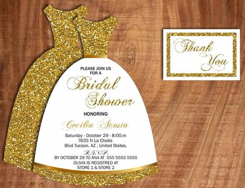 invitación imprimible despedida de soltera vestido de novia
