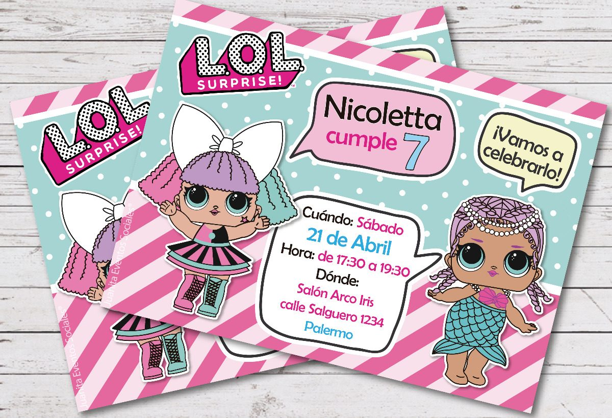 Invitacion Imprimible Lol Surprise Kit Imprimible Muñeca