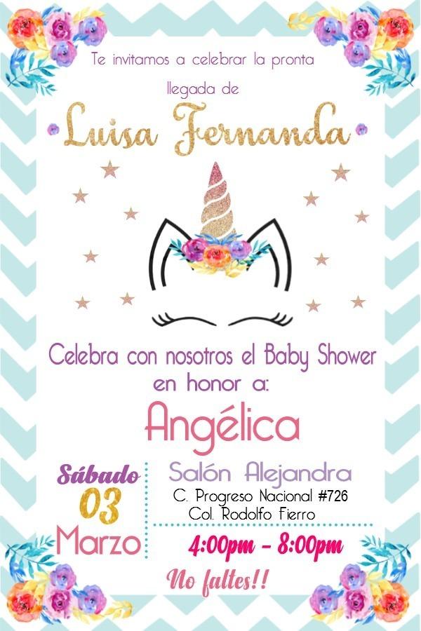 Invitacion Imprimible Personalizada Baby Shower De