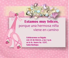 Invitación Imprimible Personalizada Baby Shower Niñas