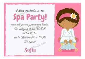Invitación Imprimible Spa De Niñas
