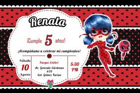 Ladybug Para Invitaciones Y Tarjetas De Cumpleaños