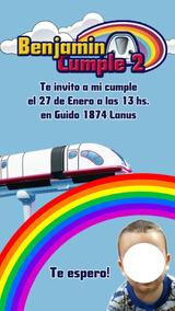 Invitacion Junior Express Topa Tarjeta Digital Imprimible