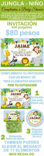 invitacion kit imprimible jungla safari baby shower zebra