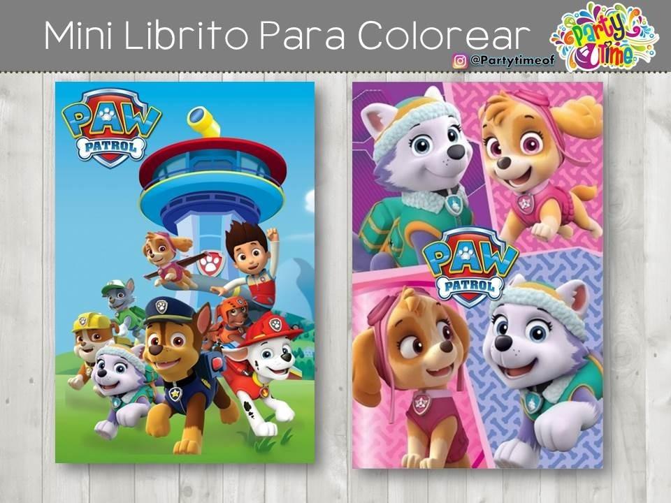 Invitacion Libro P Colorear De Patrulla Canina Obsequios Bs