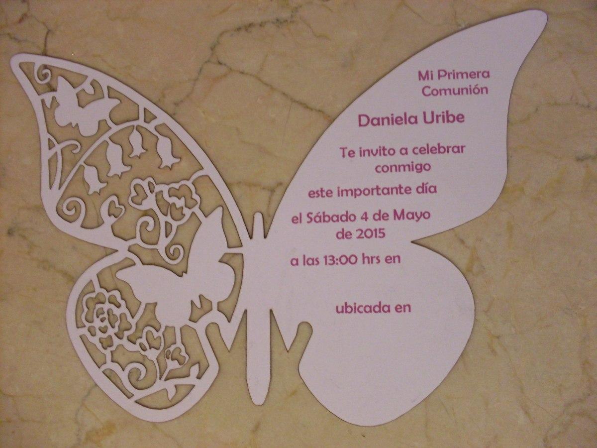 Invitacion Mariposa Corte Laser Impresión Digital - $ 18 ...