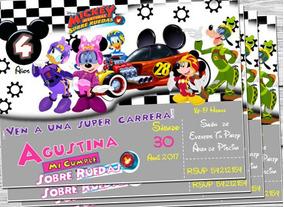 Invitacion Minnie Aventuras Sobre Ruedas Invitacion Digital