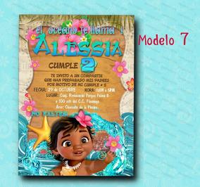 Invitacion Moana Baby Princesa Disney Digital Personalizada