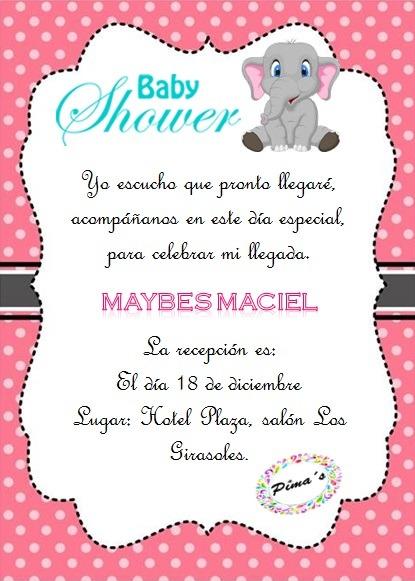 Invitación Para Baby Shower Con Sobre