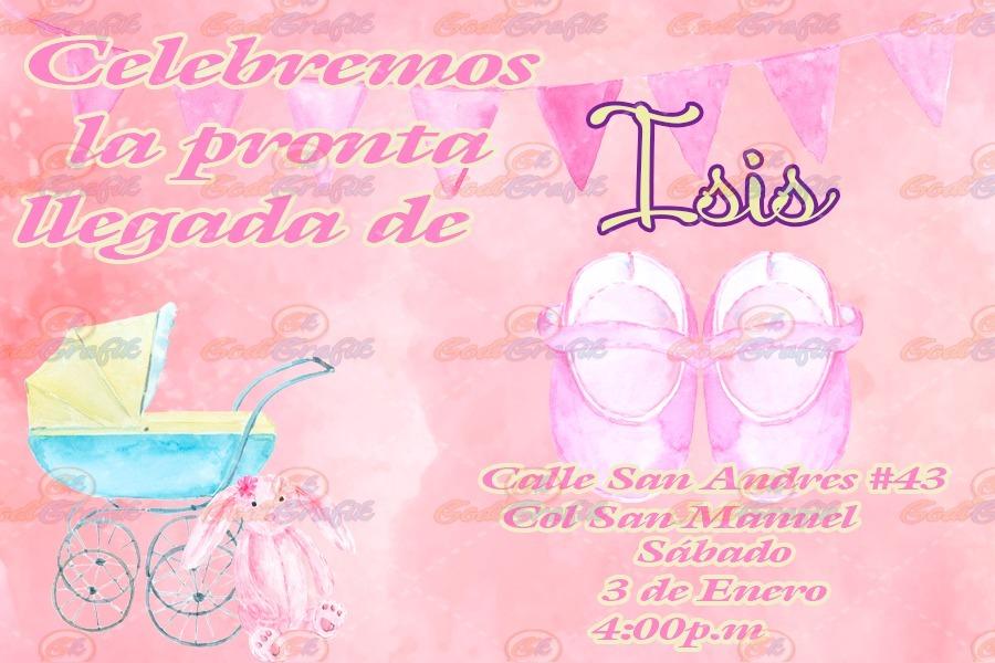 b44e004fe8c45 Invitación Para Baby Shower Zapatitos Niña -   80.00 en Mercado Libre