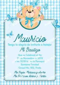 Kit Imprimible Bautizo Editable Invitaciones Invitaciones
