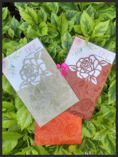 invitación para boda 57  corte láser flor