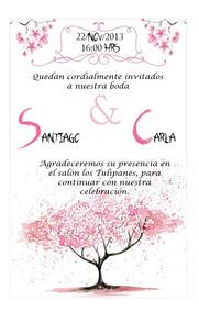Invitación Para Boda Xv Años Flor De Cerezo Imprimible