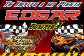Hot Wheels Dieselboy Tarjeta Americana Invitaciones Y
