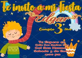 Invitación Para Fiestas Infantiles Principito