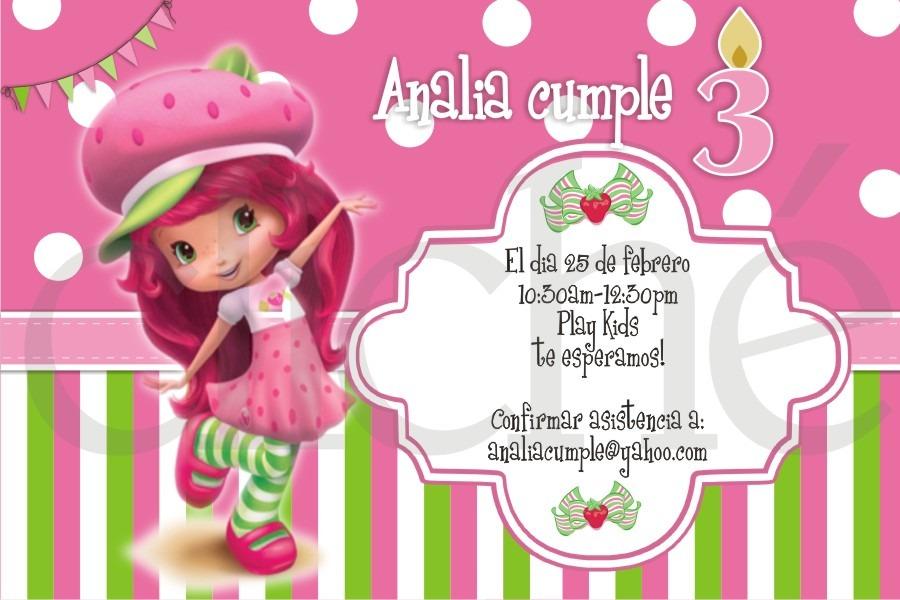 Invitacion Para Imprimir Souvenir Imprimibles Frutillitas - $ 230 ...