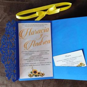 Modernas Invitaciones Para Boda Tipo Tarjeta Invitaciones