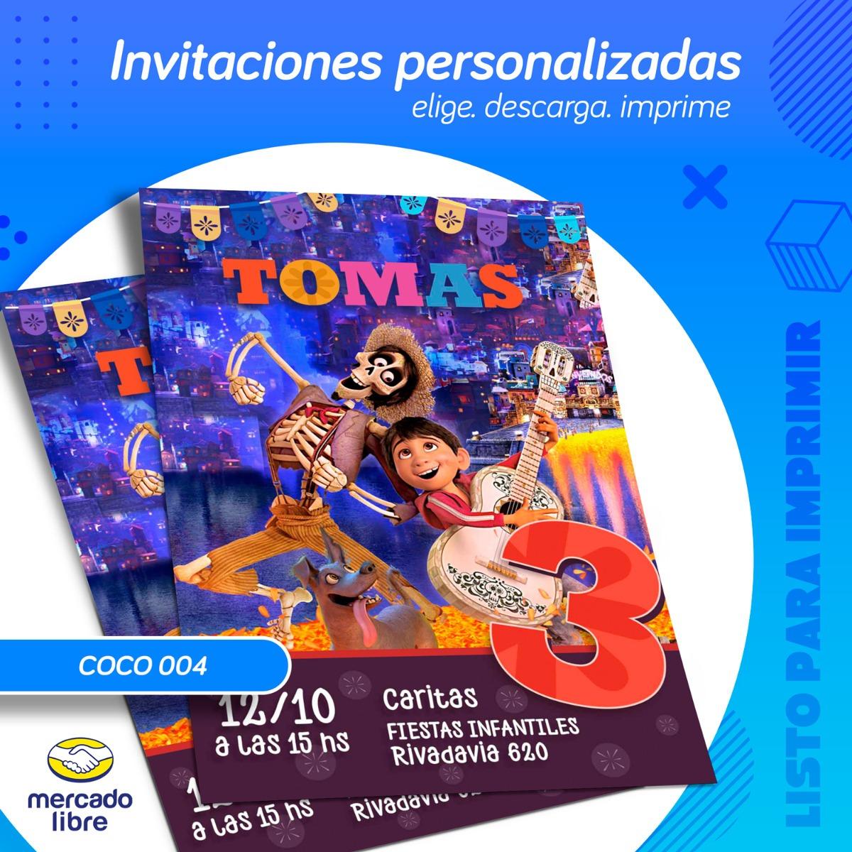 Invitacion Personalizada De Coco Listo Para Imprimir 99 00