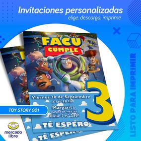 Invitación Personalizada De Toy Story Listo Para Imprimir