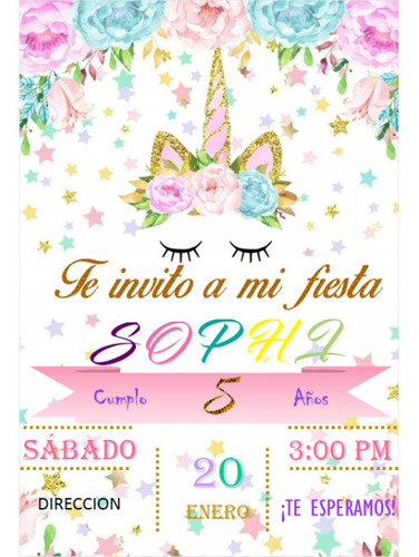 invitación personalizada digital