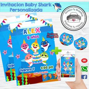 Invitación Personalizada Imprimible Baby Shark