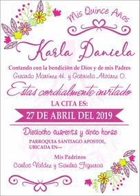Invitacion Plantilla Xv Años Fiesta Formato Editable