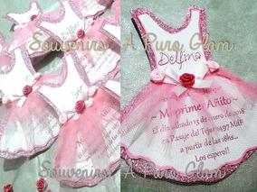 Souvenirs Bautismo Nena.Invitacion Primer Anito X10 Bailarina Princesa Bautismo