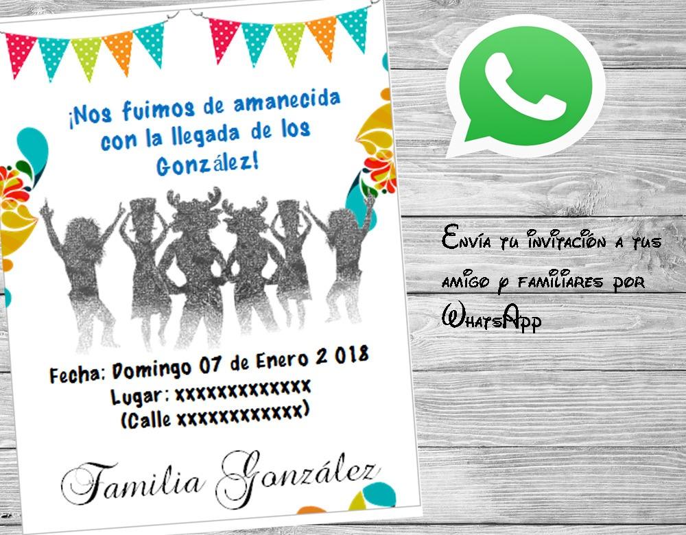 Invitación Reencuentro Familiar Fiestas Adultos