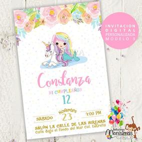 Tarjetas De Invitacion Sirenita Invitaciones Invitaciones