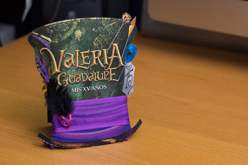 invitación sombrero alicia in wonderland!!!