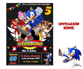 Invitación Sonic
