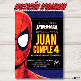 Invitacion Spiderman 2 Hombre Araña Pack X10 U