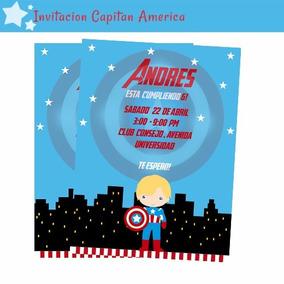 Invitacion Tarjeta Capitan America Imprimible