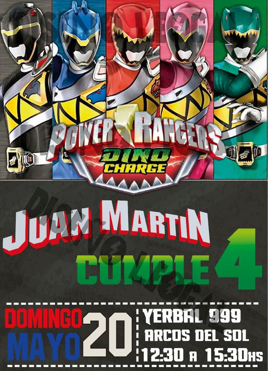 Invitacion Tarjeta Cumpleanos Digital Whatsapp Power Rangers 100 - Tarjeta-cumpleanos