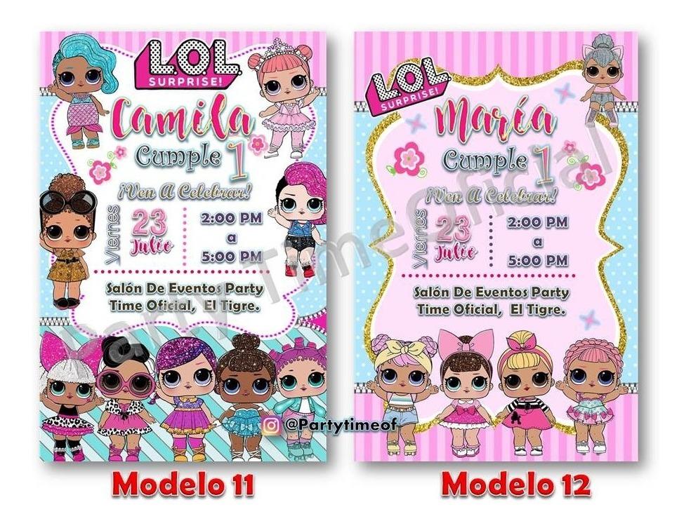 Invitación Tarjeta Digital Personalizada Lol Surprise
