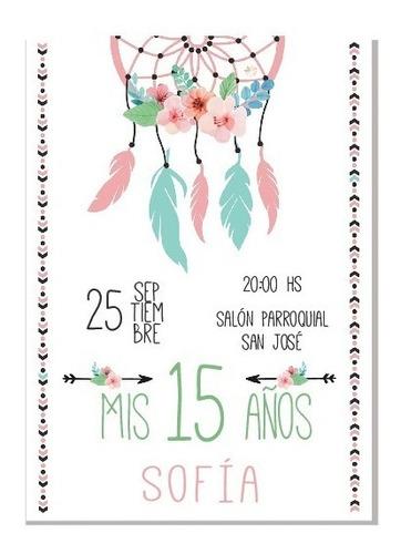 invitacion tarjeta imprimible 15 años casamiento editable