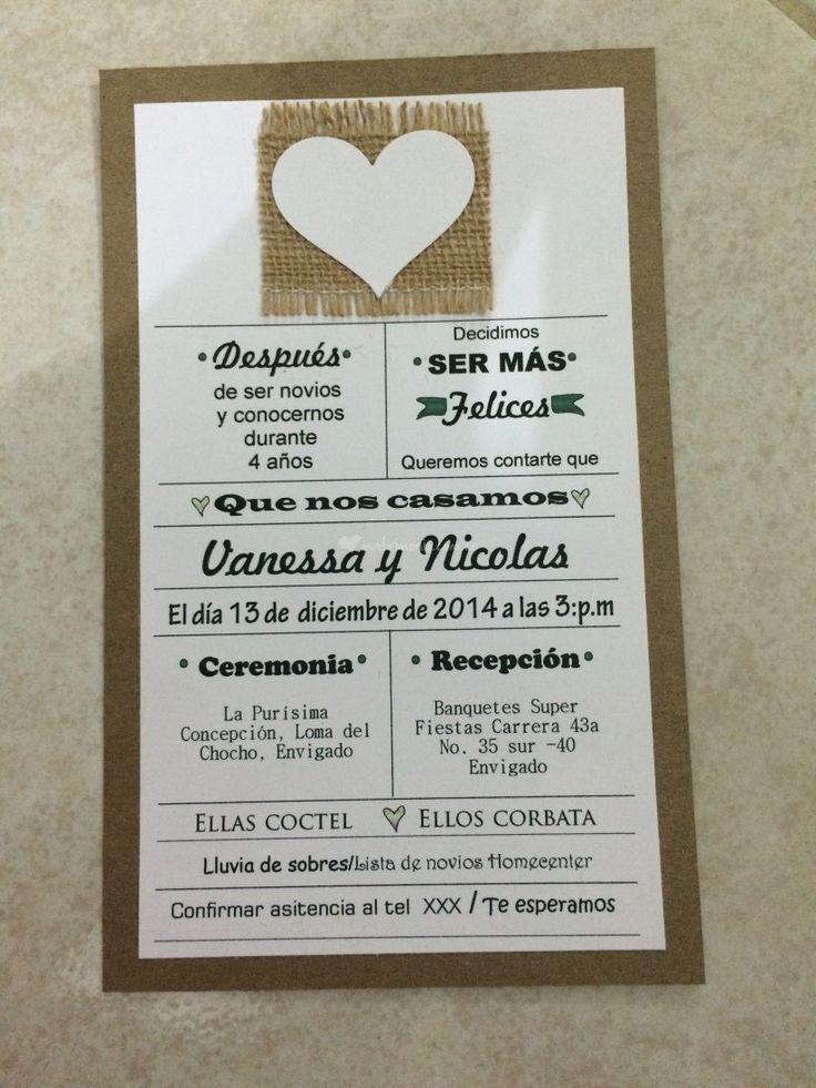Invitacion Tarjeta Matrimonio Boda
